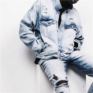 Eskitmeli  Jean  Jacket New Acid Blue