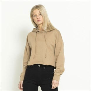 Crop Kısa Sweat Camel